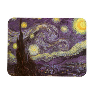 Starry Night by Vincent van Gogh Flexible Magnet