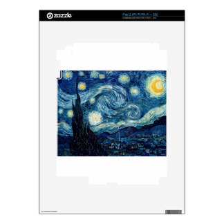 Starry Night By Vincent Van Gogh Skin For The iPad 2