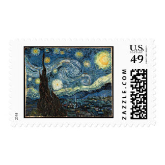 Starry Night by Vincent Van Gogh Stamp