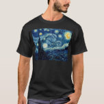 "Starry Night By Vincent Van Gogh T-Shirt<br><div class=""desc"">Starry Night By Vincent Van Gogh</div>"