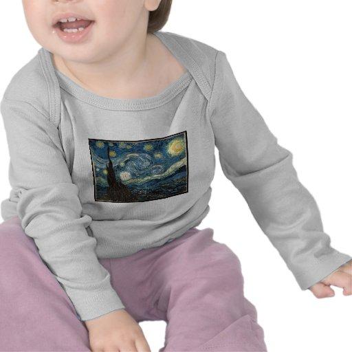 Starry Night by Vincent Van Gogh T-shirts