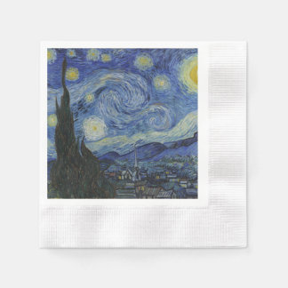 Starry Night by Vincent Van Gogh Disposable Napkins
