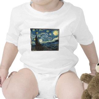 Starry Night by Vincent Van Gogh Tshirts