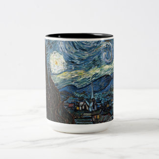 Starry Night by Vincent Van Gogh Two-Tone Coffee Mug
