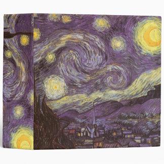 Starry Night by Vincent van Gogh, Vintage Fine Art Binder