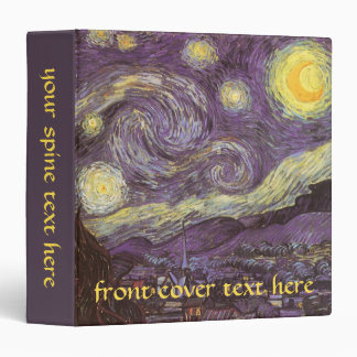 Starry Night by Vincent van Gogh, Vintage Fine Art Binder