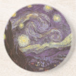 Starry Night by Vincent van Gogh, Vintage Fine Art Beverage Coasters