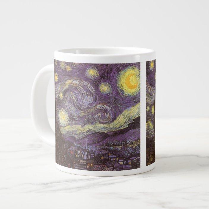 Starry Night By Vincent Van Gogh Vintage Fine Art Giant Coffee Mug Zazzle Com