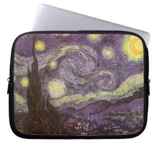 Starry Night by Vincent van Gogh, Vintage Fine Art Laptop Computer Sleeve