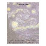 Starry Night by Vincent van Gogh, Vintage Fine Art Letterhead