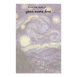 Starry Night by Vincent van Gogh, Vintage Fine Art Stationery