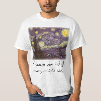 Starry Night by Vincent van Gogh, Vintage Fine Art T-Shirt