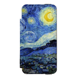 Starry Night by Vincent van Gogh Wallet Case For iPhone SE/5/5s