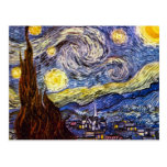 Starry Night by Vincent Willem van Gogh Postcard