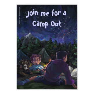 Starry Night Camp Out Invitation