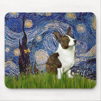 Starry Night - Cardigan Welsh Corgi Mouse Pad