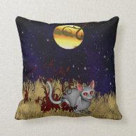 Starry Night Cat American Mojo Throw Pillow