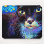 Starry Night Cat! Mouse Pad