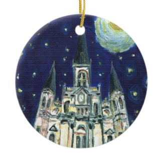 Starry Night Cathedral ornament