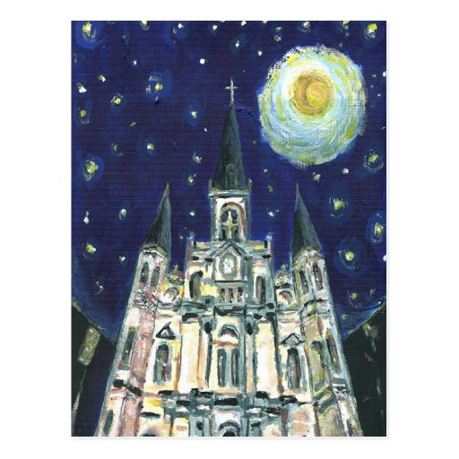Starry Night Cathedral Post Card