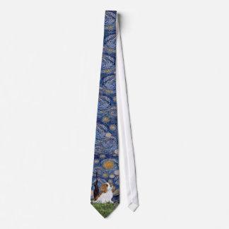 Starry Night - Cavalier (Blenheim puppy) Neck Tie