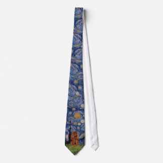 Starry Night - Cavalier (ruby) Tie