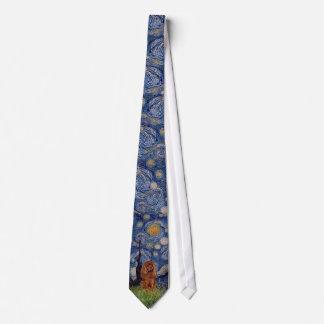 Starry Night - Cavalier (ruby) Tie