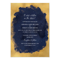 Starry Night Celestial Star Wedding Invitation