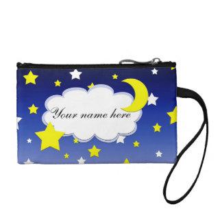 Starry night change purse