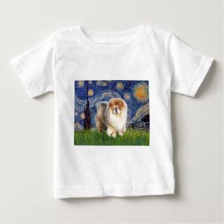 Starry Night - Chow Chow (cream) Baby T-Shirt