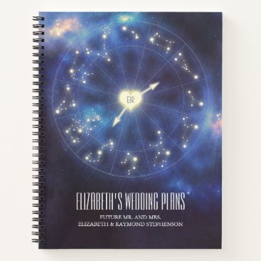 Wedding Themed Starry Night   Constellation Wedding Plans Notebook