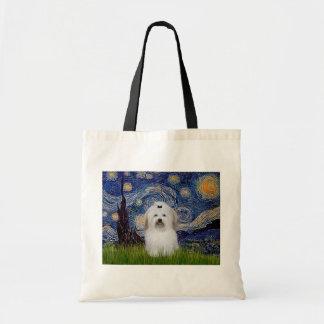 Starry Night - Coton de Tulear 2 Tote Bags