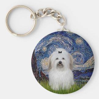Starry Night - Coton de Tulear 2 Keychain