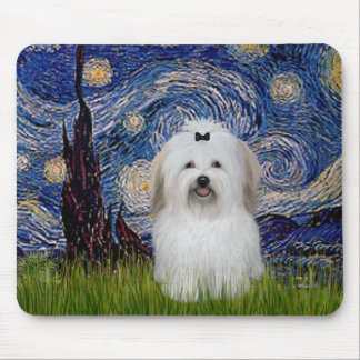 Starry Night - Coton de Tulear 2 Mouse Pad