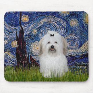 Starry Night - Coton de Tulear 2 Mousepad