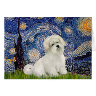 Starry Night - Coton de Tulear 7 Card