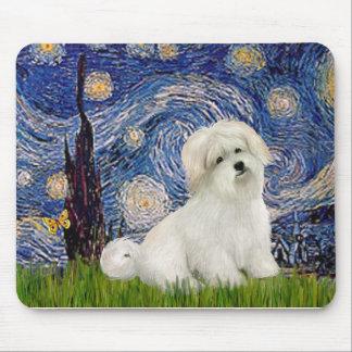 Starry Night - Coton de Tulear 7 Mouse Pad