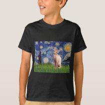 Starry Night - Cream Sphynx Cat T-Shirt