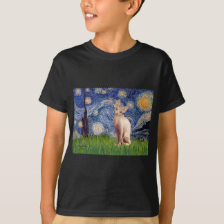 Starry Night - Cream Sphynx Cat T-Shirt
