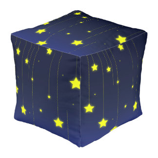 Starry Night cubed pouf