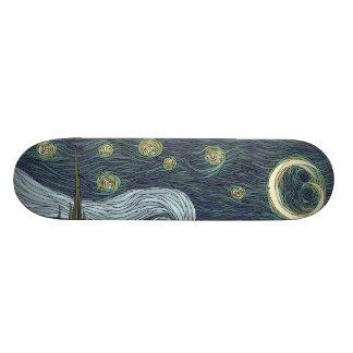 starry night custom skate board