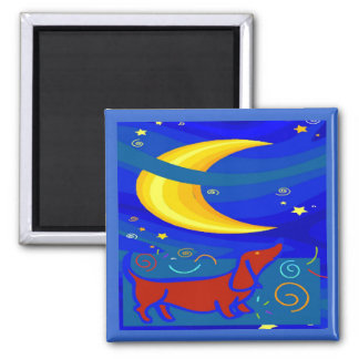 Starry Night Dachshund Magnet