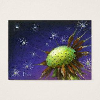 Starry night dandelion business card