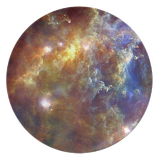 Starry night dinner party plates