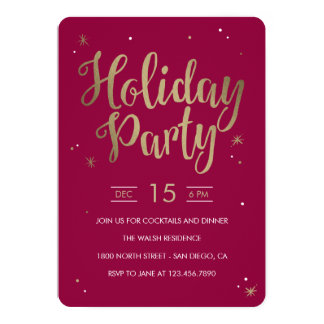 Starry Night Editable Color Holiday Party Invite