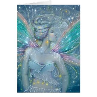 Starry Night Fairy Fantasy Art by Molly Harrison Card
