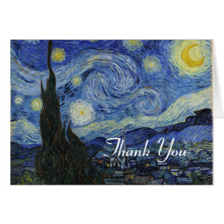 Starry Night Fine Art Thank You Note Card