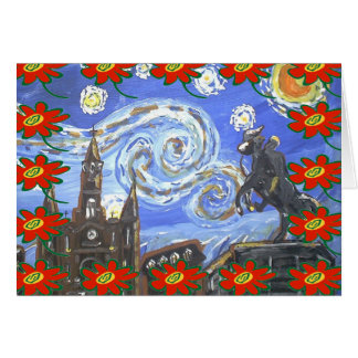 Starry Night French Quarter Christmas Card