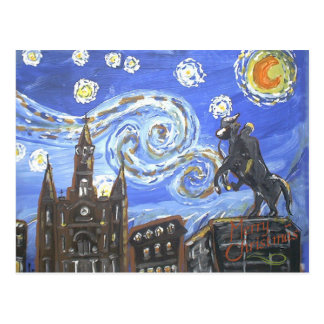 Starry Night French Quarter Postcard
