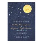 "Starry Night Full Moon Wedding Invitation 5"" X 7"" Invitation Card"